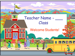 Welcome Back To School Powerpoint Template By Happyedugator