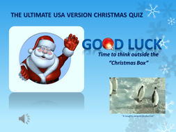 USA version - Christmas Quiz
