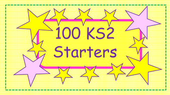 Over 100 KS2 New Curriculum Morning Starters