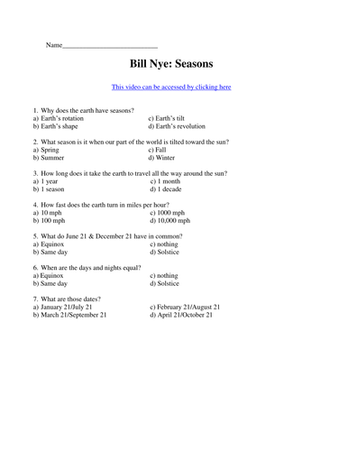 bill nye video worksheets complete 20 video worksheet collection by teachwithfergy teaching. Black Bedroom Furniture Sets. Home Design Ideas
