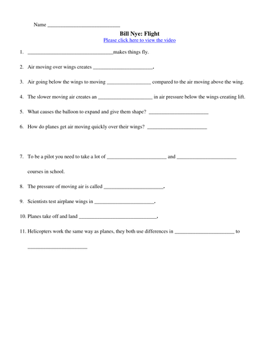 Bill Nye Water Cycle Worksheet Answers - Worksheets
