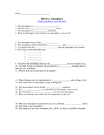 Bill Nye Video Worksheets - Complete 20 Video Worksheet Collection