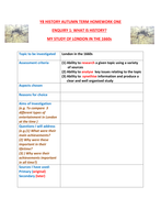 y8 history project planning sheet by mad saleswoman teaching