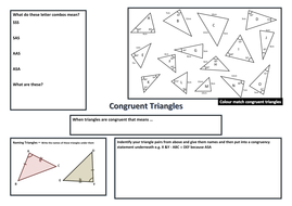 It's just a picture of Luscious congruent triangles coloring activity