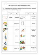 FRENCH - Classroom Instructions - Les Instructions de la Classe - Worksheets