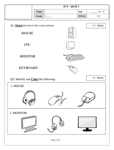 Printables Parts Of A Computer Worksheet parts of a computer worksheet by afreenkh teaching resources tes