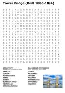 Tower Bridge Word Search