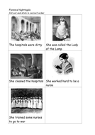 Sequencing Florence Nightingale Story Key Stage 1
