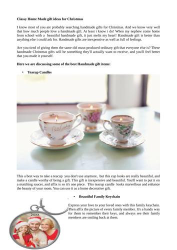 Handmade christmas gift ideas for craft lovers by for Gift ideas for craft lovers