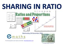 Sharing / Ratio