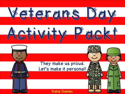 Gettysburg Collection: NEW Veterans Day Activity Pack *Bundle*- Buy it and $ave