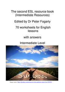 70 worksheets for english lessons with answers intermediate level the second esl resource book. Black Bedroom Furniture Sets. Home Design Ideas