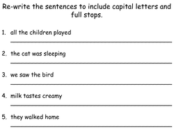 Capital Letters and Full Stops by Teacher-of-Primary - Teaching ...