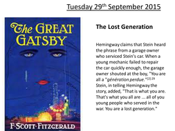 New Spec OCR English Literature AS - The Great Gatsby