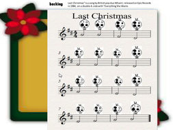"""Version of """"Last Christmas"""" with easy instrumental part for ocarina or tuned instrument"""