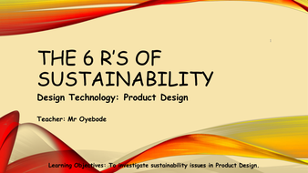 The 6 Rs of Sustainabilty