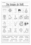 FRENCH - CHRISTMAS - Des Images de Noël - Worksheets