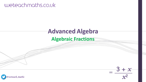 Algebraic Fractions adding and subtracting solving equations and – Adding and Subtracting Algebraic Fractions Worksheet