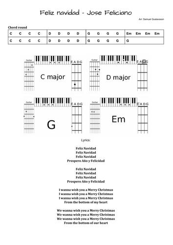 Christmas Pack - Lead-sheets for 13 Christmas songs for KS3-4