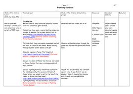 Branching-Database--week-1.doc