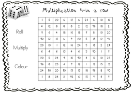 10 Division Dice Games and 1 Bonus Multiplication Game by