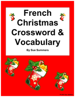 French Christmas Crossword Worksheet and Vocabulary  Noel by