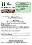 The Work of Pax Christi