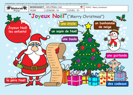 french all about christmas y3y4 chrismtas decorations recipe song - All About Christmas