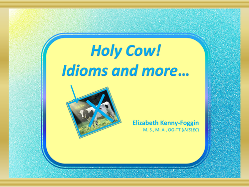 Featured Author Elizabeth Kenny-Foggin Know the Code: Idioms