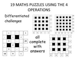 maths puzzles - tricky! KS2