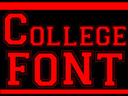 Red College Font - Clip Art Lettering