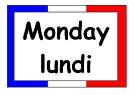 French Days of the Week/Month of the Year Display Posters