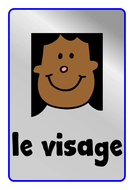 French Body Parts Vocabulary Display Posters