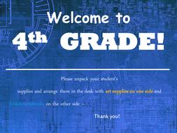 Meet the Teacher Powerpoint Slideshow Presentation - Blue Mechanical -  Editable