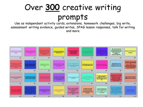 """creative writing story starters ks3 100 writing prompts 20 sentence starters 1 if i could visit anywhere write the story of """"goldilocks and the three bears"""" from baby bear's point of."""