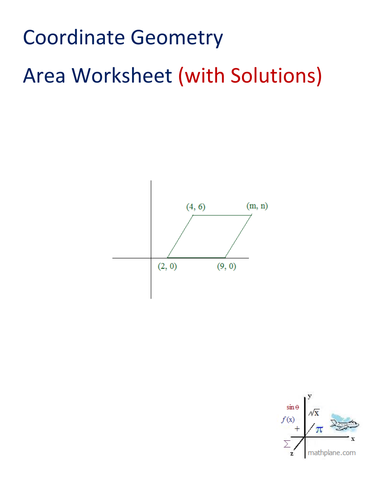 coordinate geometry area worksheet by mathplane teaching resources tes. Black Bedroom Furniture Sets. Home Design Ideas