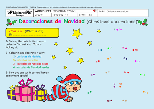 SPANISH-BUNDLE-UNIT-ALL-ABOUT-CHRISTMAS FOR KS1 -KS2-Topic/ Song ...