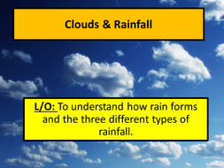 Clouds and rainfall