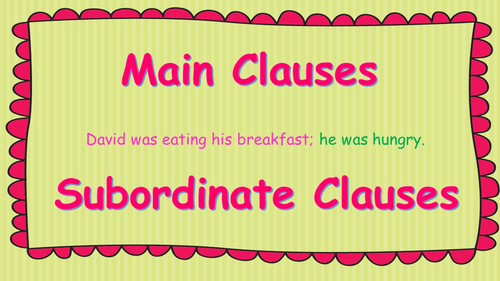 main clause and subordinate clause exercises with answers pdf
