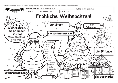 GERMAN ALL ABOUT CHRISTMAS FOR Y3Y4 Christmas decorations Quiz