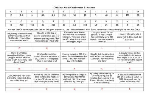 Xmas Maths Worksheets christmas math worksheets harder maths ks2 – Xmas Maths Worksheets