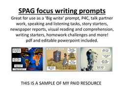 SPAG focus writing prompts