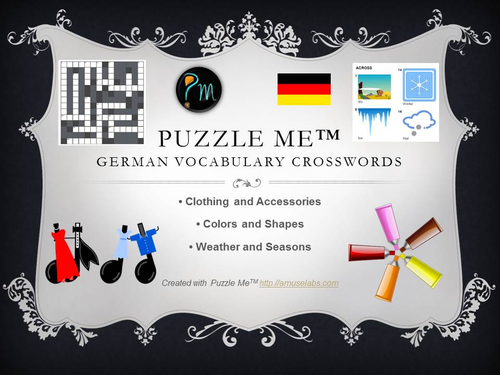Clothing, Color And Weather Crossword