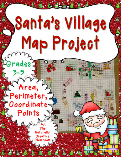 Holiday Celebrations: Santa's Village Christmas Map Project