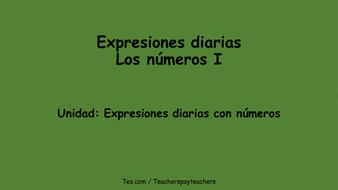 PowerPoint-Expresiones diarias: Los números I