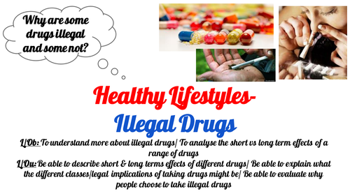 Post 16 PSHCEE Healthy Lifestyles- Illegal drugs