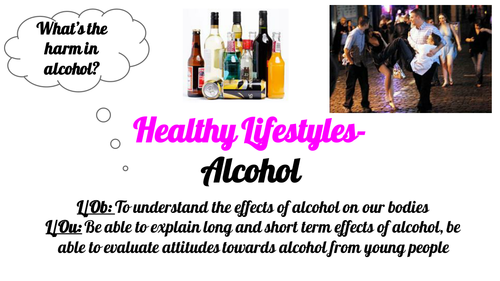 Post 16 PSHCEE Healthy Lifestyles- Alcohol