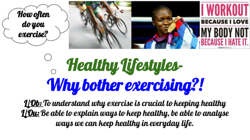 Post 16 PSHCEE Healthy lifestyles- Exercise and keeping fit when you leave school