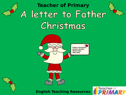 Writing a letter to father christmas powerpoint and worksheets by writing a letter to father christmasppt spiritdancerdesigns