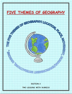 5 Themes of Geography 3 Lessons